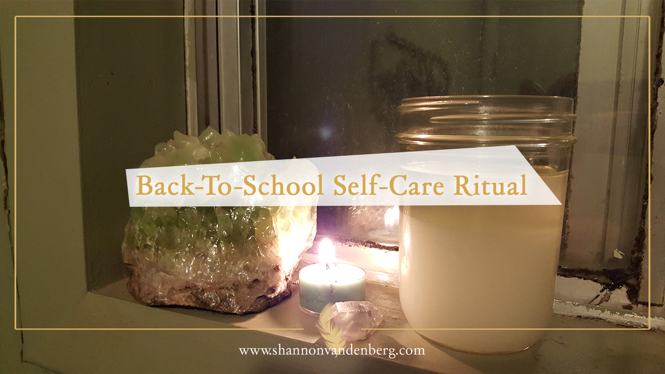 Back-To-School Self-Care Ritual (and the recipe to make a yummy scrub)